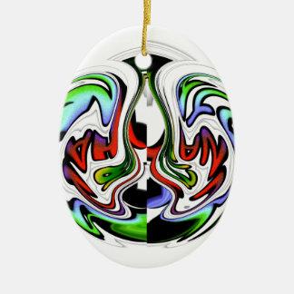 Colores del regalo del hakunamatata de adorno ovalado de cerámica