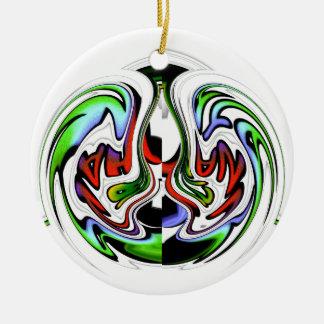Colores del regalo del hakunamatata de adorno redondo de cerámica