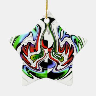 Colores del regalo del hakunamatata de adorno de cerámica en forma de estrella