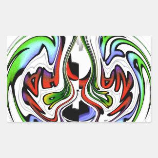 Colores del regalo del hakunamatata de rectangular pegatina