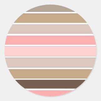 Colores del Seashell de la concha Etiqueta Redonda