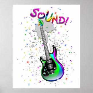 Colores del sonido de la guitarra eléctrica impresiones