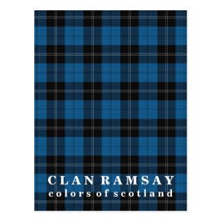 Colores del tartán azul de la caza de Ramsay del Tarjeta Postal
