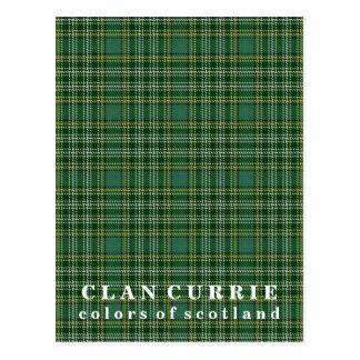 Colores del tartán de Currie del clan de Escocia Postales