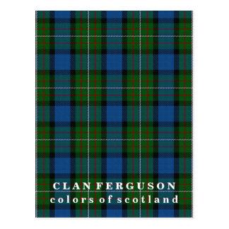 Colores del tartán de Ferguson del clan de Escocia Postal