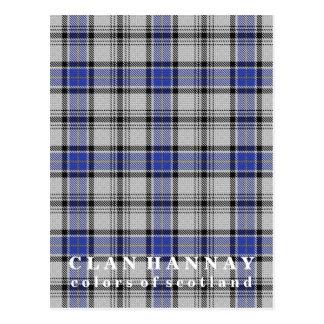 Colores del tartán de Hannay del clan de Escocia Postales