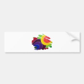Colores del trópico de la pegatina para el paracho pegatina de parachoque
