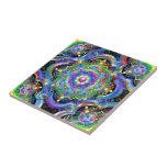 Colores del universo de la mandala tejas