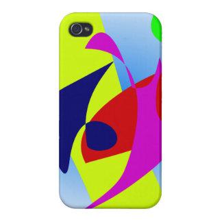 Colores del verano del cuenco del Goldfish iPhone 4 Carcasas