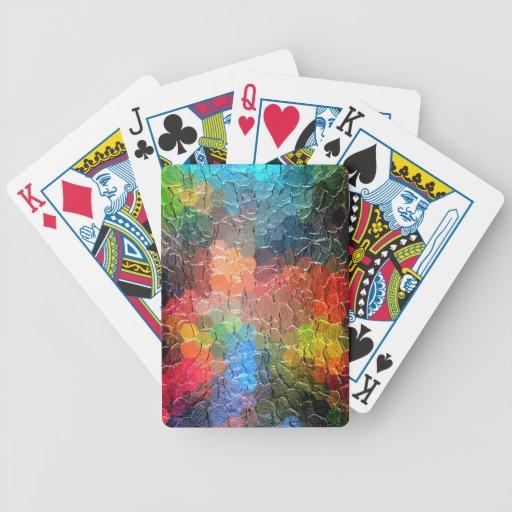 Colores dinámicos abstractos de la pintura el   baraja de cartas