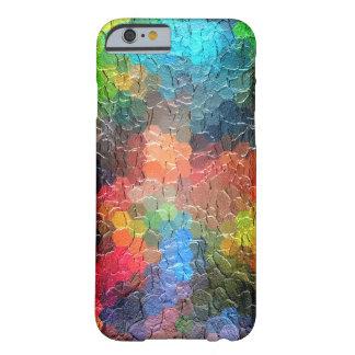 Colores dinámicos abstractos de la pintura el   funda de iPhone 6 barely there