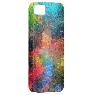 Colores dinámicos abstractos de la pintura el iPhone 5 protector