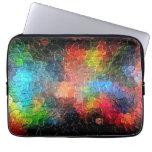 Colores dinámicos abstractos de la pintura el | funda computadora