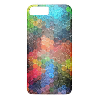 Colores dinámicos abstractos de la pintura el | funda iPhone 7 plus