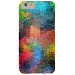 Colores dinámicos abstractos de la pintura el | funda para iPhone 6 plus barely there