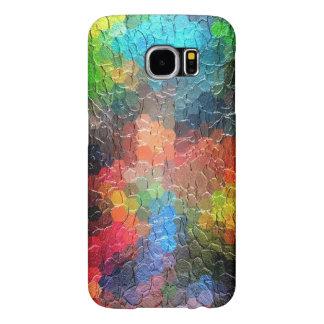 Colores dinámicos abstractos de la pintura el   fundas samsung galaxy s6