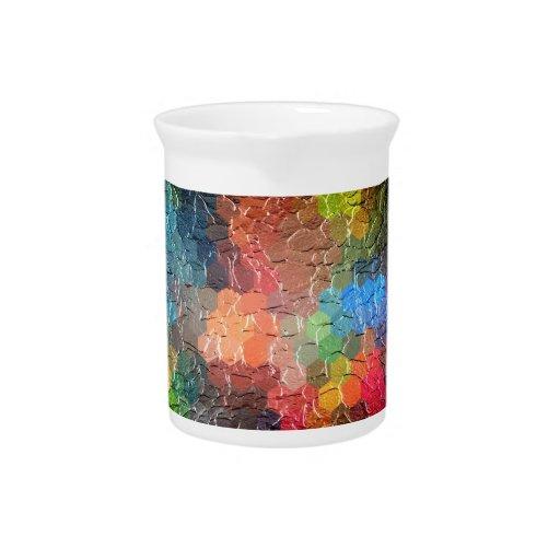Colores dinámicos abstractos de la pintura el | jarras de beber