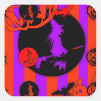 Colores eléctricos - Halloween - Calcomania Cuadradas