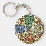 Colores elementales de la cruz céltica llavero personalizado