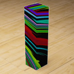 Colores en caja de regalo del vino del espacio caja para bino
