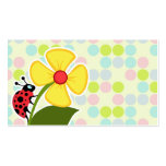 Colores en colores pastel de la mariquita, lunar plantillas de tarjeta de negocio
