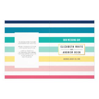"""Colores en colores pastel de la raya linda de la folleto 5.5"""" x 8.5"""""""