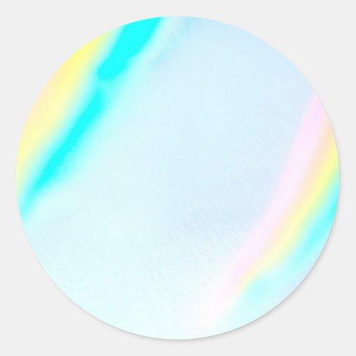 Colores en colores pastel del espectro pegatina redonda