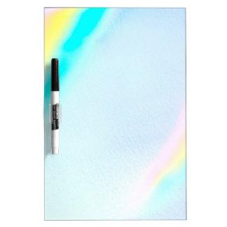 Colores en colores pastel del espectro tablero blanco