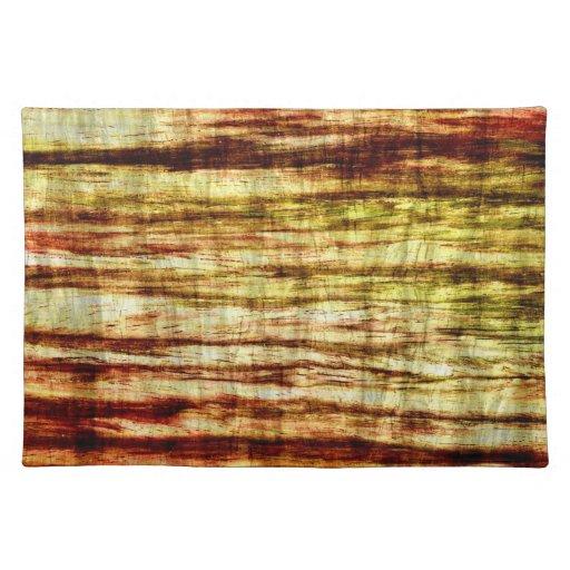Colores en colores pastel en el arte de madera 5 mantel individual