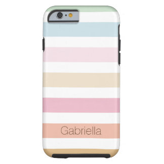 colores en colores pastel finos modernos funda resistente iPhone 6