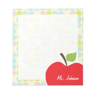 Colores en colores pastel, lunar; Apple Libreta Para Notas