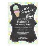 Colores en colores pastel, lunar; Cono de helado Invitación 12,7 X 17,8 Cm
