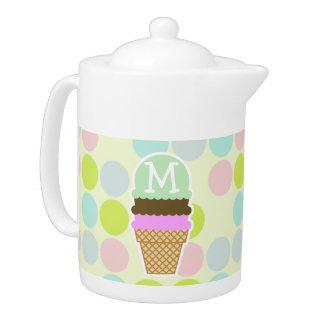 Colores en colores pastel, lunar; Cono de helado