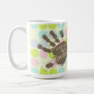 Colores en colores pastel, lunar; Mamá divertida Tazas De Café
