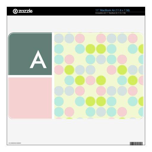 Colores en colores pastel, lunar skin para el MacBook