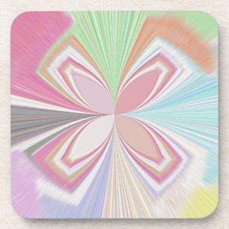 Colores en colores pastel posavaso