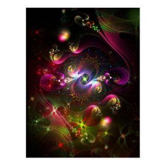 Colores en el extracto del cielo tarjeta postal