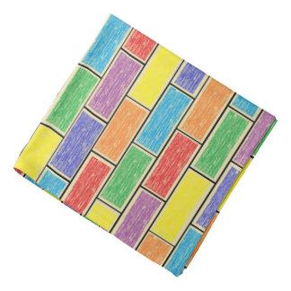 Colores en el pañuelo de la pared bandana