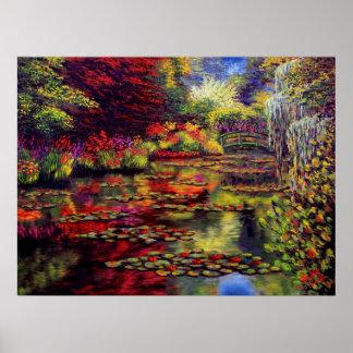 Colores en la charca de Monet Posters