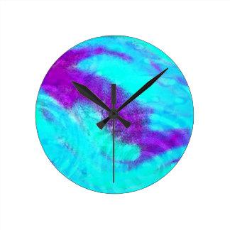 colores en la lluvia reloj