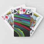 Colores en naipes del espacio barajas de cartas