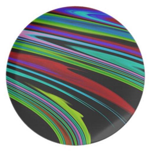 Colores en placa del espacio plato de cena