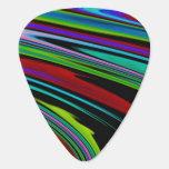 Colores en púa de guitarra del espacio