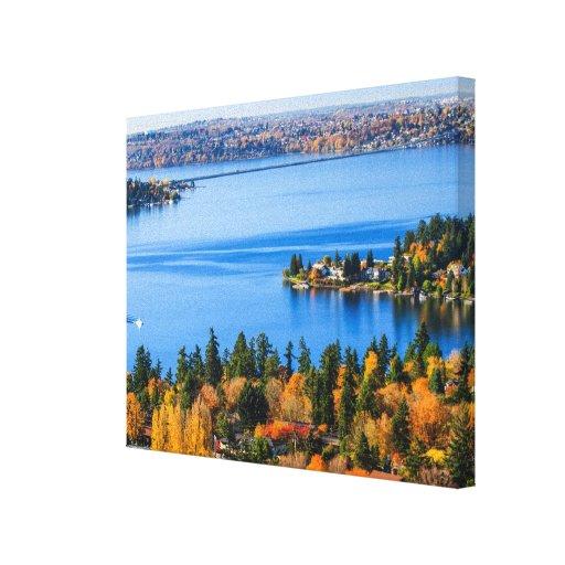 Colores espléndidos de la caída en Bellevue Impresión En Tela