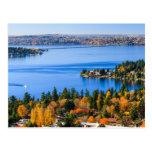 Colores espléndidos de la caída en Bellevue Tarjetas Postales