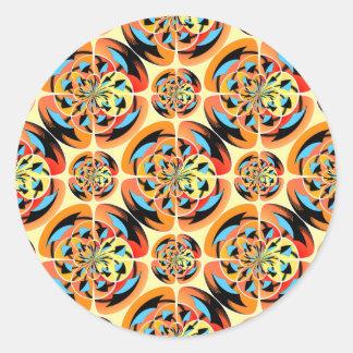 Colores estupendos pegatina redonda
