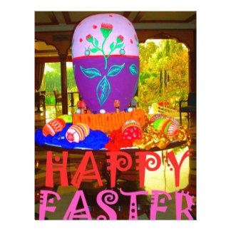 Colores felices de Pascua Membrete Personalizado
