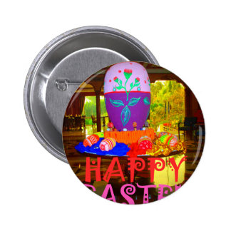 Colores felices de Pascua Pin Redondo De 2 Pulgadas