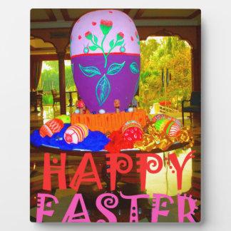Colores felices de Pascua Placa Para Mostrar