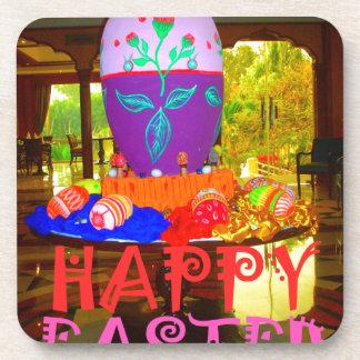Colores felices de Pascua Posavasos De Bebida